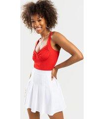 corrine pleated mini skirt - white