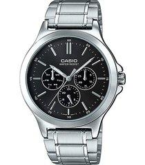 reloj casio mtp-v300d-1a-gris