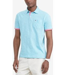 tommy hilfiger men's custom-fit stillwater textured polo shirt