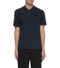 'luxe lotus' cotton polo shirt