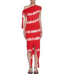 paula's ibiza' tie dye sleeveless asymmetric knot dress