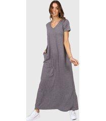 vestido gris chelsea market lola largo-