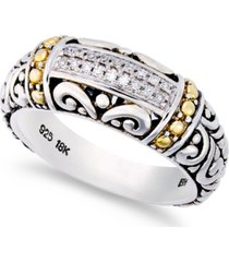 balissima by effy diamond accent round swirl ring in 18k gold and sterling silver