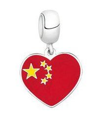 berloque bandeira da china de prata moments