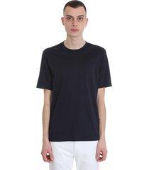 ermenegildo zegna t-shirt in blue cotton
