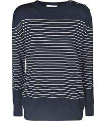 max mara striped print sweater
