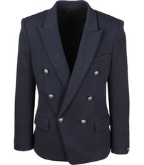 balmain double breasted jersey jacket