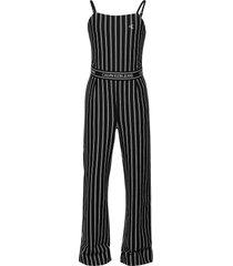 city stripe strap jumpsuit jumpsuit zwart calvin klein