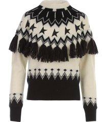 golden goose sweater deidra wool norway patchwork jacquard