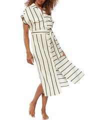 striped coverup shirtdress