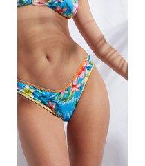 calzedonia high cut brazilian swimsuit bottoms honolulu woman blue size 4