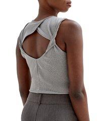 women's 4th & reckless brixton sleeveless bodysuit, size x-large - grey