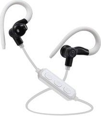 audifonos manos libres bluetooth deportivos, m1 control de voz bluetooth inalámbrico running sport auriculares auriculares estéreo earbud auriculares para el teléfono (blanco negro)