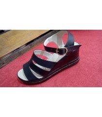 sandalias plataforma jj cow shoes  ref 205 negro