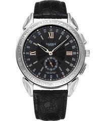 reloj hombres de cuarzo de dos agujas y medio-negro
