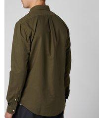 polo ralph lauren men's slim fit garment dyed oxford shirt - defender green - xxl