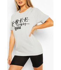 free spirit oversized sweat top, grey