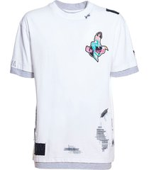double layered mermaid t-shirt, white