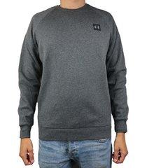 sweater under armour rival fleece crew 1320738-020