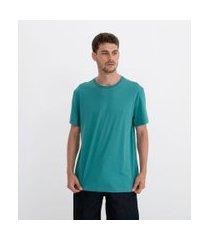camiseta comfort em algodão peruano lisa | marfinno | verde | p