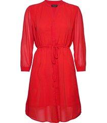 slfshelly-damina 7/8 dress ex korte jurk rood selected femme