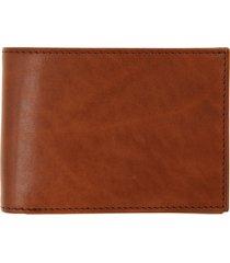 bosca old leather bifold wallet in saddle at nordstrom
