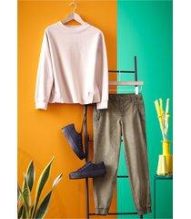 pantaloni cropped con elastico al fondo (verde) - rainbow