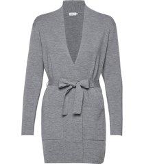 belted mid cardigan stickad tröja cardigan grå filippa k