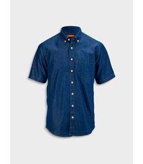 camisa denim silueta regular fit para hombre 04447