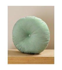 amaro feminino almofada redonda d50 cm, verde água