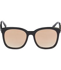 stella mccartney women's 55mm square sunglasses - black