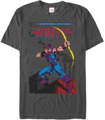 marvel men's comic collection classic comic style hawkeye short sleeve t-shirt