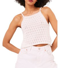 french connection cotton nora crochet top