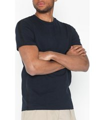 selected homme slhrib ss o-neck tee b t-shirts & linnen mörk blå