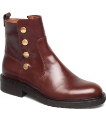boots 3526 shoes boots ankle boots ankle boot - flat brun billi bi