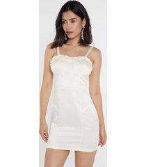 womens i got you babe bustier mini dress - ivory