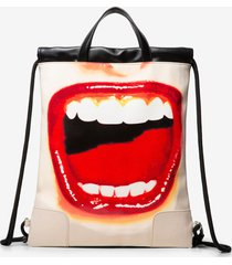 string backpack lips - black - u