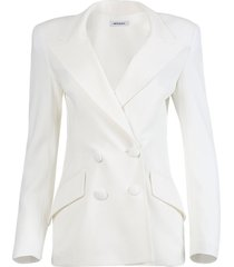 white backless evening blazer