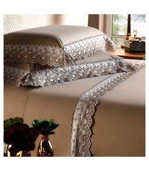 jogo de cama solteiro plumasul belfast deep beauty 3 peças