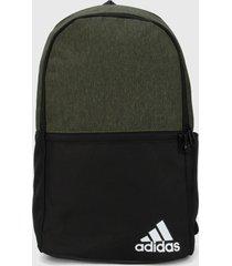 morral  verde oliva-negro adidas performance daily backpack