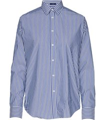 d1. tp bc striped over d shirt overhemd met lange mouwen blauw gant