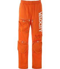 calvin klein multi-pocket trousers