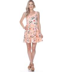 white mark women's flower crystal dress
