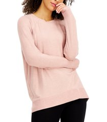 alfani heathered overdye pajama top, created for macy's