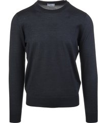anthracite man pullover in cashmere and silk