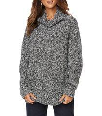 women's nydj chunky cowl neck sweater, size medium - black