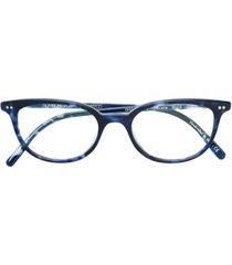 oliver peoples armação de óculos 'gracette' - azul