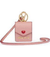 miu miu madras love earphone case - pink