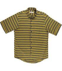 camisa casual manga corta a cuadros regular fit para hombre 93429