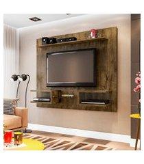 painel móveis bechara atlas para tv até 55 pol madeira rústica